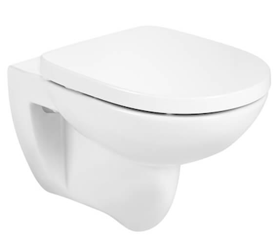 Roca Debba Round Rimless Wall Hung WC Pan