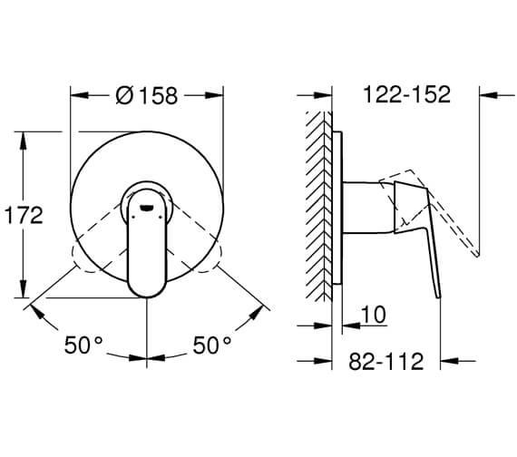 Technical drawing QS-V95898 / 24044000