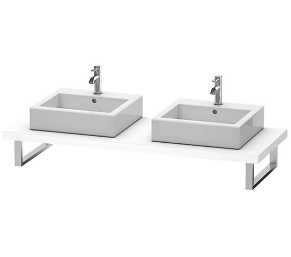 Duravit Vero Air 550mm Depth Two Cut-Out Console With LED Light