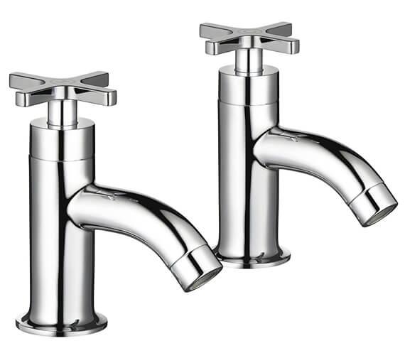 Mira Revive Pair Of Chrome Bath Pillar Taps