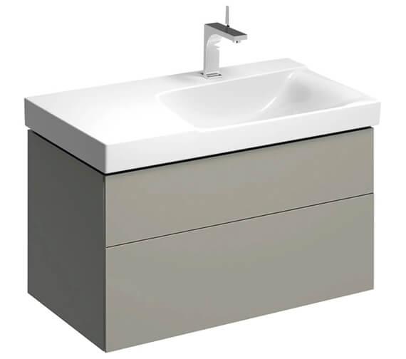 Alternate image of Geberit Xeno2 880 x 462mm Two Drawers Unit For Shelf Surface Basin