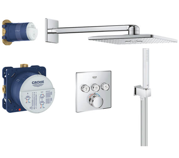 Grohe Grohtherm Smartcontrol Perfect Shower Set With Rain Shower 310 Smartactive Cube