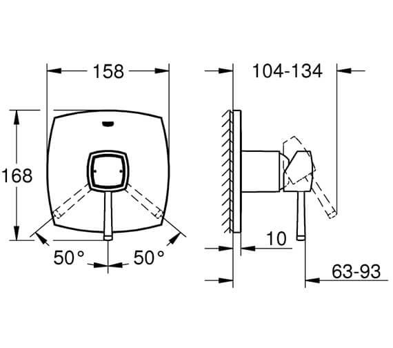 Technical drawing QS-V95907 / 24067000