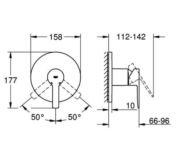 Technical drawing QS-V88679 / 24063001