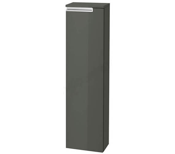 Roca Victoria-N 253 x 1100mm Gloss Anthracite Grey Column Unit With 1 Door