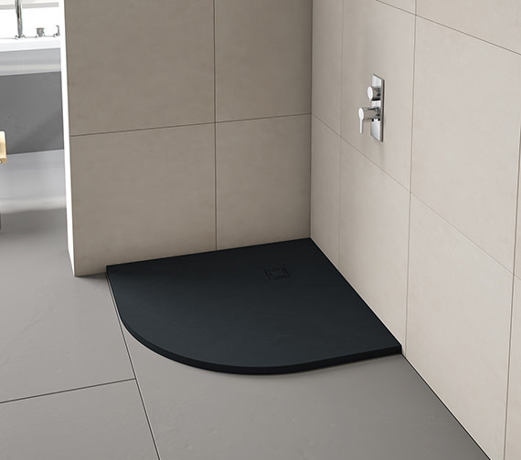 Additional image of Merlyn TrueStone Quadrant 900 x 900mm Shower Tray With Waste