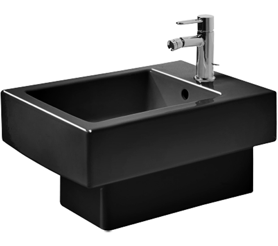 Additional image of Duravit Vero 370 x 540mm 1 Tap Hole Wall Mounted Bidet