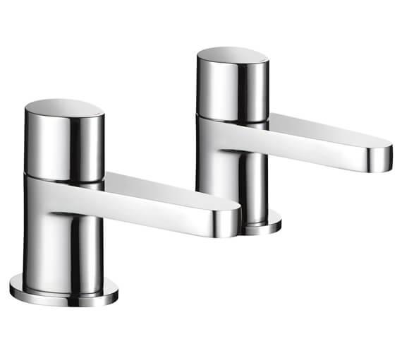Mira Precision Pair Of Chrome Bath Pillar Taps