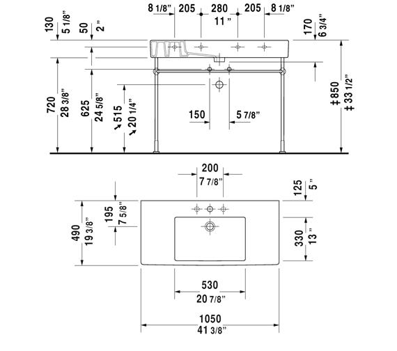 Technical drawing QS-V45493 / 0329850060