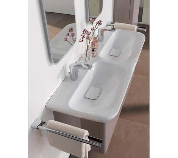 Alternate image of Geberit MyDay 1160mm Wide Single Drawer Vanity Unit And Double Basin