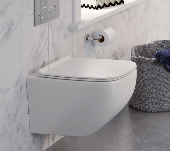 Crosswater Infinity Rimless Wall Hung Wc With Soft Close Seat