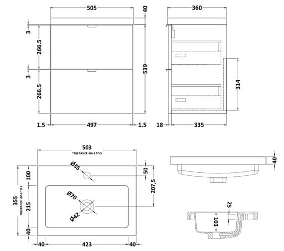 Technical drawing QS-V98043 / CBI141