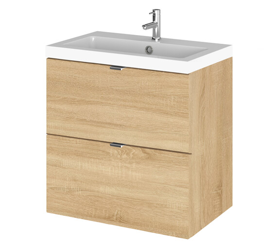Additional image of Hudson Reed Fusion 500mm Wall Hung Full Depth 2 Drawer Vanity Unit And Basin
