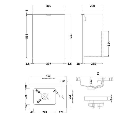 Technical drawing QS-V98038 / CBI337
