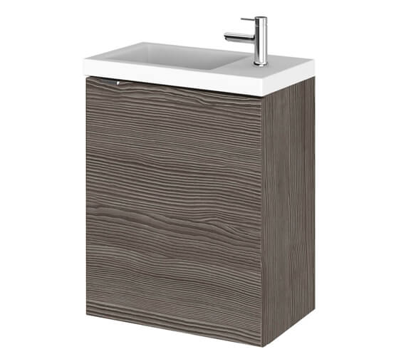 Alternate image of Hudson Reed Fusion 400mm Wall Hung Compact Vanity Unit And Basin
