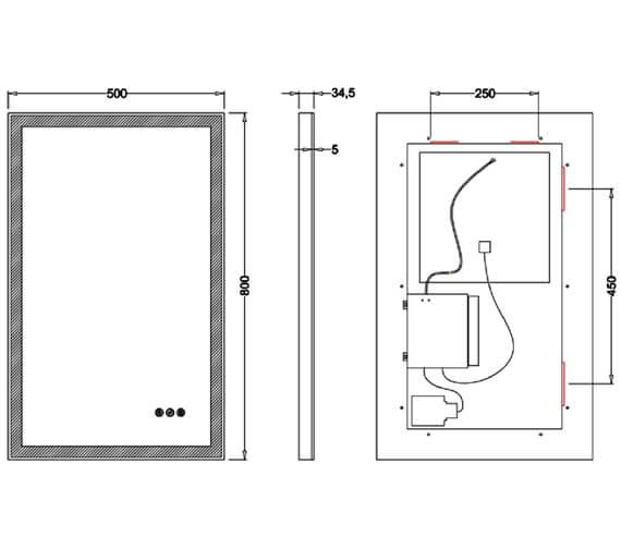 Technical drawing QS-V100590 / DN4060