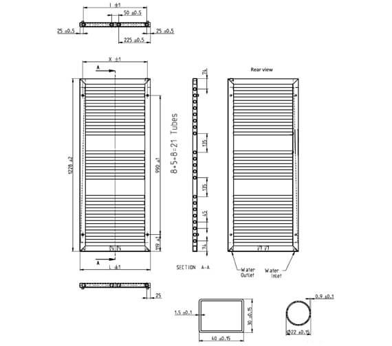 Technical drawing QS-V88804 / IF50X122B