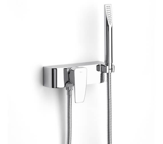 Roca Thesis Chrome Wall Mounted Shower Mixer With Kit
