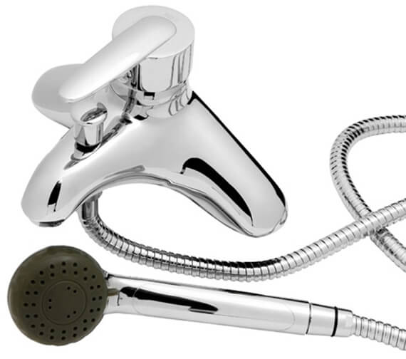 Roca Vectra Deck Mounted Bath Shower Mixer Tap With Shower Kit