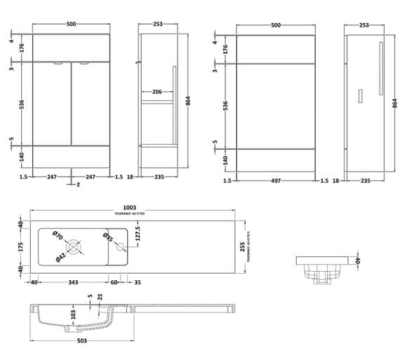 Technical drawing QS-V98044 / CBI142