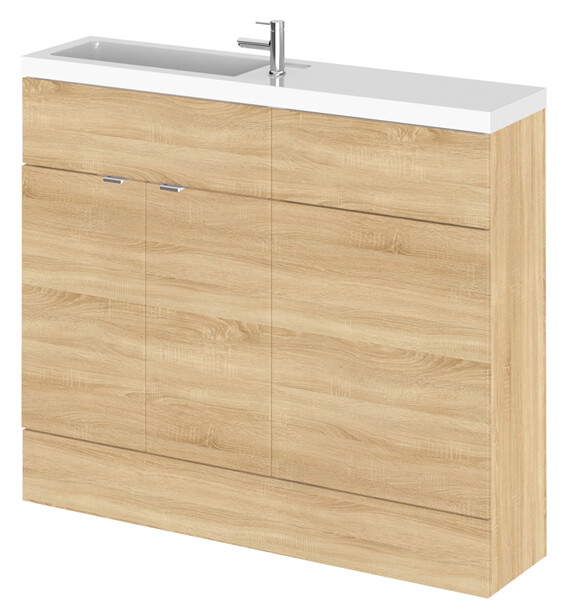 Additional image of Hudson Reed Fusion 1000mm Compact Furniture Pack - Vanity And WC Unit With Basin