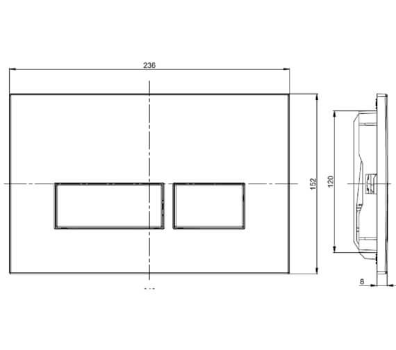 Technical drawing QS-V88665 / PROFLUSHB