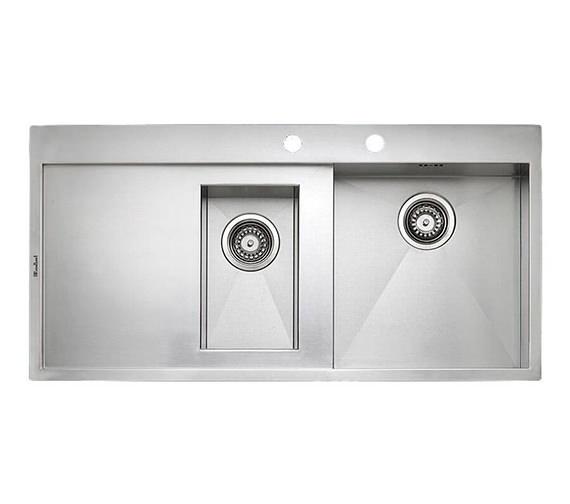 Reginox Ontario 1.5 Bowl Stainless Steel Integrated Sink 1000 x 500mm