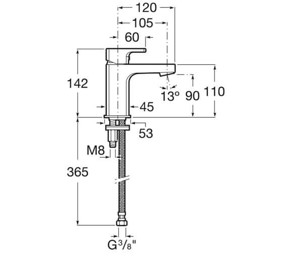 Technical drawing QS-V99700 / 5A3B01C0R
