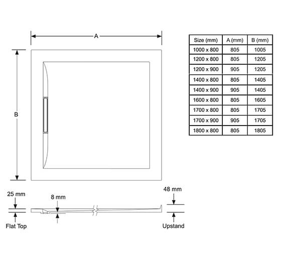 Technical drawing QS-V98048 / 1.1898.095.WH