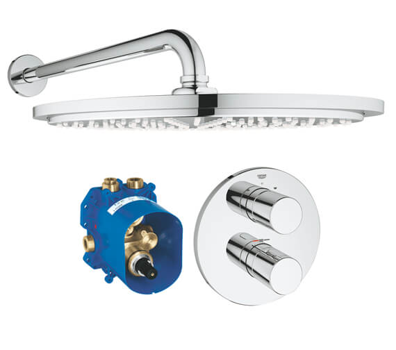 Grohe Grohtherm 3000 Cosmopolitan Perfect Shower Set With Rainshower Cosmopolitan 160