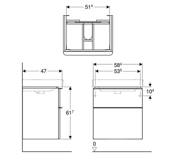 Technical drawing QS-V93830 / 500.352.00.1