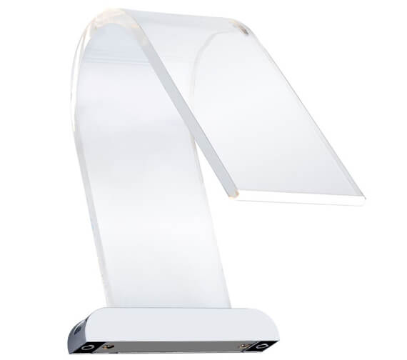 Additional image of Sensio Cascade Curved Acrylic LED Over Mirror Light