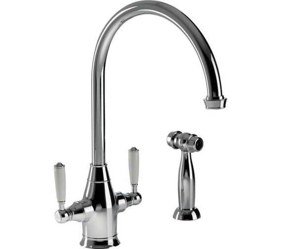 Abode Astbury Monobloc Kitchen Mixer Tap With Integrated Handspray