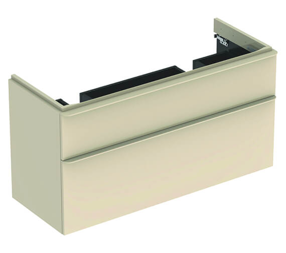 Additional image of Geberit Smyle Square 1184 x 470mm Two Drawers Vanity Unit For Double Basin