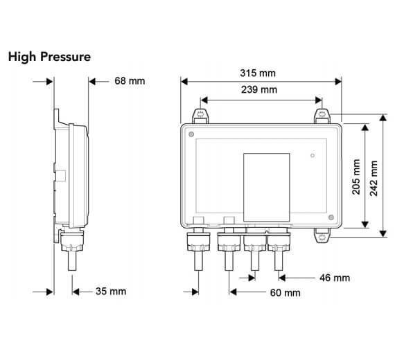 Alternate image of Mira Mode Dual Rear Fed Digital Mixer Shower