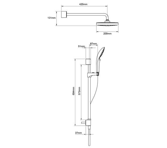 Technical drawing QS-V93682 / 1.1874.005