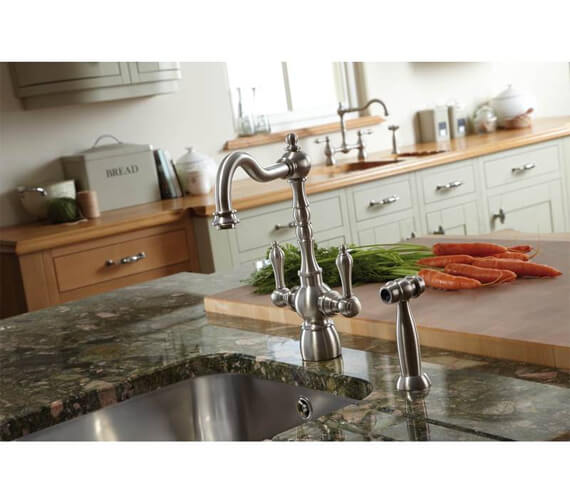 Additional image of Abode Bayenne Monobloc Kitchen Mixer Tap With Integrated Handspray