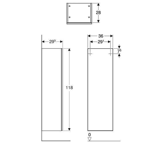 Technical drawing QS-V93836 / 500.361.00.1