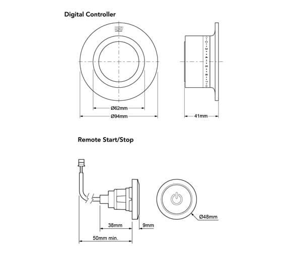 Technical drawing QS-V90975 / 1.1874.013