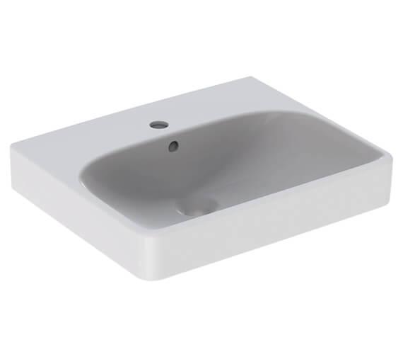 Geberit Smyle Square 1 Tap Hole Basin White