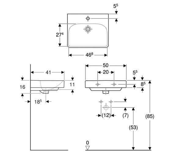 Technical drawing QS-V93838 / 500.256.01.1