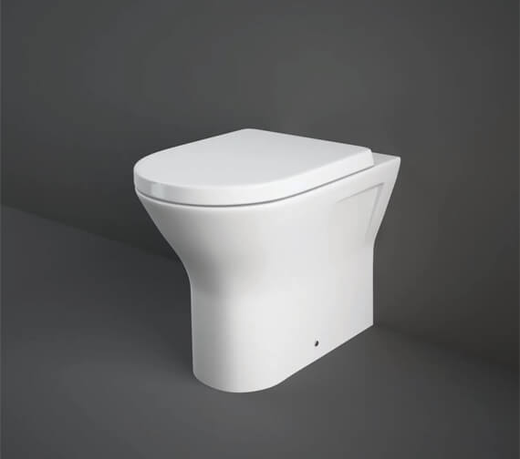 RAK Resort 425mm Comfort Height Back To Wall Rimless WC With Soft Close Seat