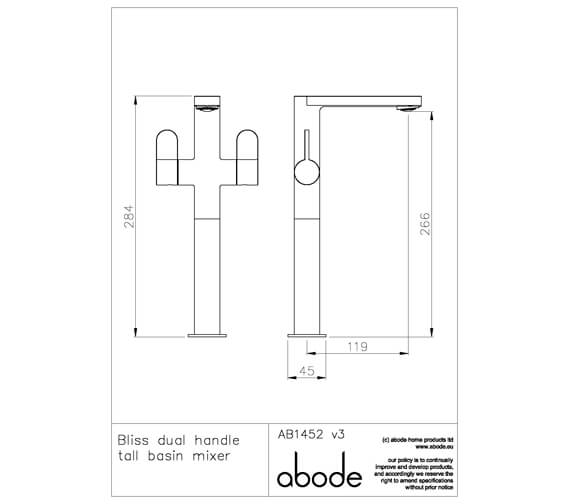 Additional image of Abode Bliss Chrome Basin Mixer Tap