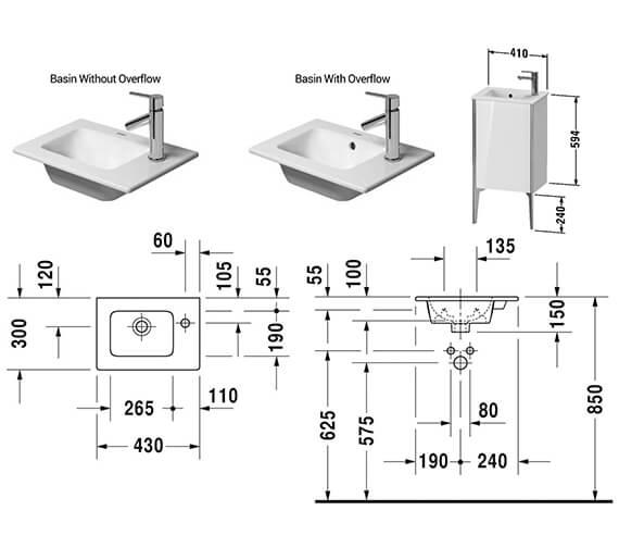 Technical drawing QS-V42535 / XV4480LB118