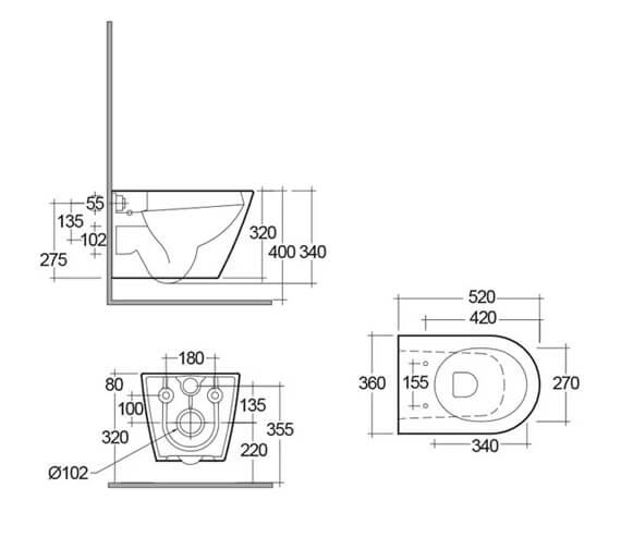 Technical drawing QS-V99733 / RSTWHPAN/SC