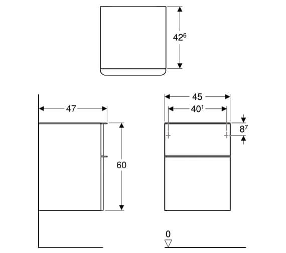 Technical drawing QS-V93835 / 500.357.00.1