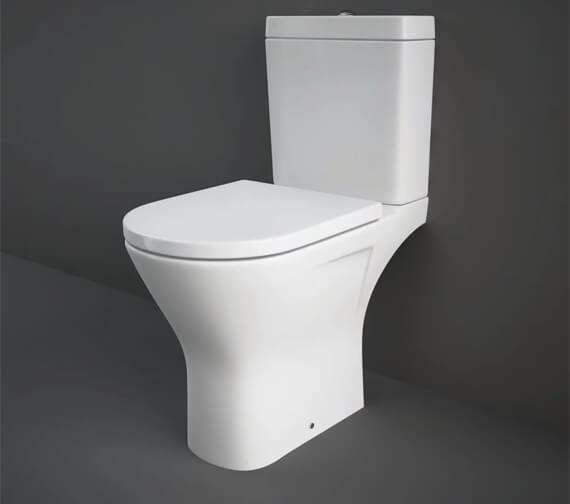 RAK Resort Maxi Close Coupled Open Back Rimless Toilet