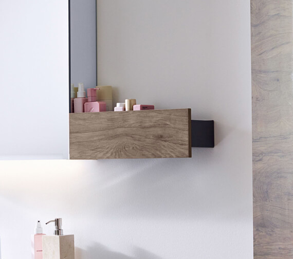 Alternate image of Geberit Smyle Square 450 x 143mm Wall Shelf