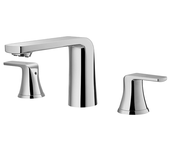 Flova Fusion 3 Hole Basin Mixer Tap With Clicker Waste