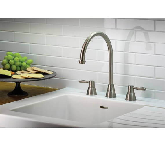 Additional image of Abode Brompton 3 Hole Kitchen Mixer Tap